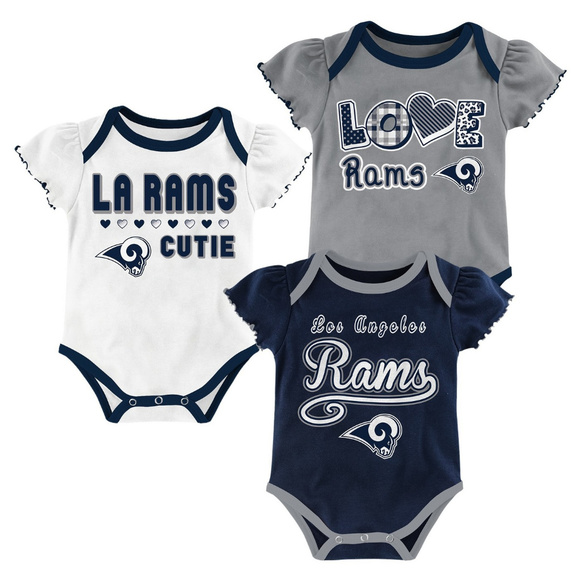 fdc91750 Los Angeles Rams Baby infant Girls' 3pk Bodysuit NWT